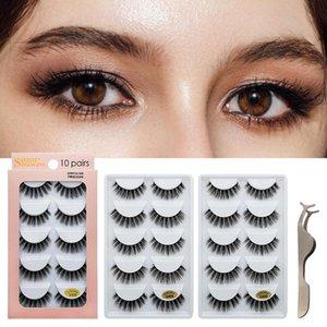 Eye Makeup 10 Pairs 3D Mink False Eyelashes Set Thick Natural Long 6 styles Eyelashes