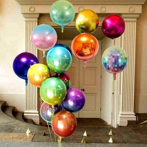 2pcs Rose Gold 4D Foil Balloons 10 18 22 Inch Helium Globos Rainbow Ballon Wedding Christmas Decor Birthday Party Decoration 84IF ND6S