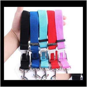 Collars Leashes Supplies Home & Garden Drop Delivery 2021 6 Colors Cat Dog Car Safety Seat Belt Harness Adjustable Pet Puppy Pup Hound Vehicl