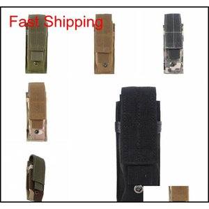 Packs Backpacks Gear Molle Single Pistol Magazine Pouch Knife Flashlight Sheath Airsoft Hunting Ammo Camo Bags Tactical Waist Drop Del