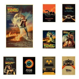 Buy 3 Get 4 Movie Back To The Future Vintage Posters for Home Bar Living Decor Kraft Paper High Quality Poster Wall Sticker C0929