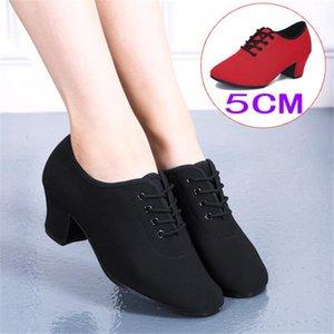Marka Latin Dans Ayakkabıları Modern Kadınlar Balo Salonu Tango Kızlar Bayanlar Sneaker Moda Çift Kırmızı Dudaklar 5 cm Topuk 2021 Elbise