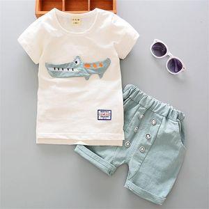 Summer Toddler Boy Kids Children Ropa Set Ropa de bebé Tshirt + Pantalones Traje Trajes para niños 1 2 3 4 años 210226 93 Z2