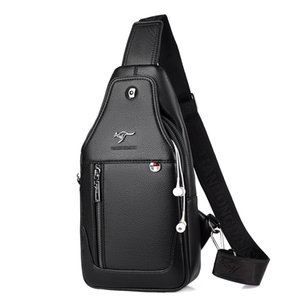 Luxury Brand Messenger Bag Leather Men Chest Bag Vintage Crossbody Shoulder Bag Mens Business Sling Bags Male Casual Chest Pack