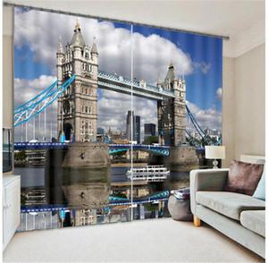 Curtain & Drapes London Bridge 3D Blackout Window Curtains For Living Room Bedding El Office Cortinas Para Sala