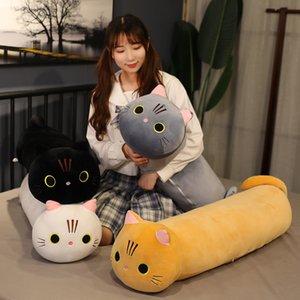 80-100cm Quatro Cores Longo Gato Brinquedo Cilíndrico Cilindrical Animal Almofada Crianças Sleeping Pets Bonitos