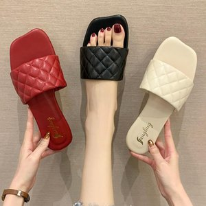 Slippers Casual Low Shoes Woman 2021 Shale Female Beach Pantofle Loafers Luxury Sabot Flat Fashion Rubber Slides PU Rome