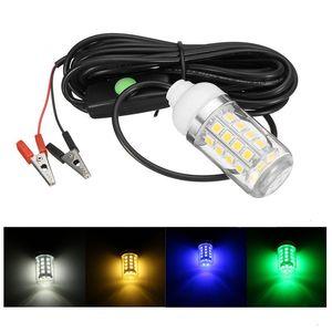 전구 12V 수중 잠수정 야간 낚시 가벼운 빛 그늘 미끼 미끼 루어 오징어 보트 램프 LED 전구 W / 5M IP67 방수