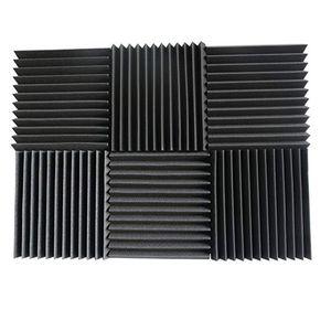"""48 PCS Paneles acústicos Estudio Insonorización de la espuma de espuma 1 """"x 12"""" x 12 """"FZFLR 1333 V2"""