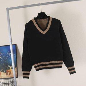 2021 Frauen Designer Kleidung Hohe Qualität Marke Designer Pullover Luxus Frau mit derselben Herbst Winter-akademische Atmosphäre