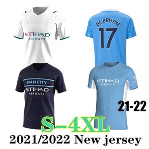 Tamanho Grande: XXXL XXXXL Manchester Soccer Jersey 2021 2022 Mahrez Ferran Sterling 21 22 Home