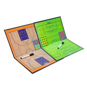 Coaching Board Foldable Football Basketball Tactic Board Magnetic Basketball Soccer Coach Plate Clipboard Book Set with Pen