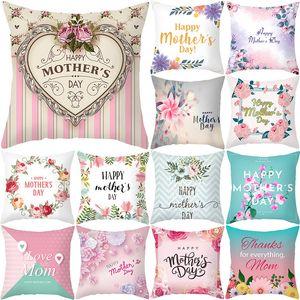 Nordische Muttertag Kissenbezug Home Pfirsich Haut Bett Stoff Liebe Brief Sofa