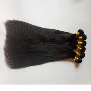 Manufacturer supplied Best quality Indian Double Weft Unprocessed Brazilian Peruvian Hair Extensions Weave 8-30inch Natural Human hair Weft