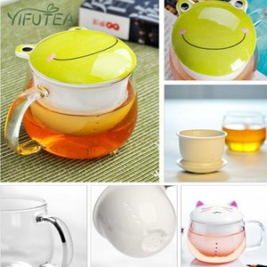 Wine Glasses Cartoon Glass Flower Tea Cup With Liner And Lid Household Kitchen Supplies Office Portable Water 300ML