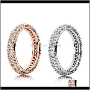 100 925 plata esterlina con circón cúbico Caja original Pandora Fashion Fashion Day Rose Gold Women Women McIA Banda AO3YQ