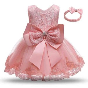 Princess Kids Girl Flower Embroidery Dresses Baby Girls Christening Gown Formal Dress Festival Toddler 1st Birthday Party Outfit 210402