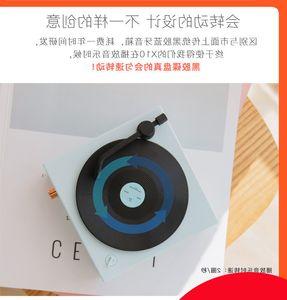 New rubber record turntable multifunctional audio wireless black portable gramophone Bluetooth speaker