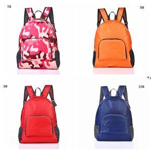 NEWFoldable Travel Backpack Fashion Outdoor Portable Sport Bag Nylon Waterproof Bag Zipper Adjustable Hand Bag For Woman Men CCD7999