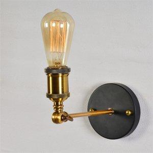 Indoor Lighting Vintage LED Wall Lights 110V 220V E27 Metal Wall Lamps Home Decor Simple Single Swing Wall Lamp Retro Rustic Light Fixtures Lighting