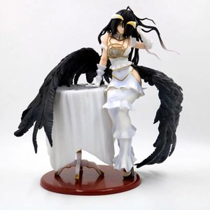 Anime Sexy Girl Figure Ainz Ooal Gown Pure-White Devil Albedo 1 7 Scale PVC Action Figure Collectible Model Adult Toys Doll Gift R0327