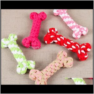 Supplies Home & Garden Drop Delivery 2021 Chews Ropes Dog Toys Color Bone Type Pet Puppy Chew Toy 17 Cm Xg0Rb