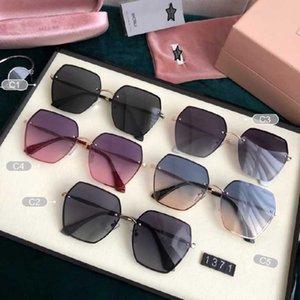 Güneş Gözlüğü 2021 Lüks Moda Gözlük Kadın Miu Bayan Anti UV400 Polarize Güneş Gözlükleri MIU1371 En Kaliteli