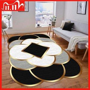 Decorative Carpet Non-Slip Base Rug Fabric Kitchen Livingroom Accessory Modern Original Bedroom Decor Living Room Home Carpets