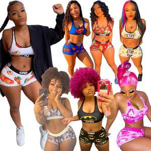 Summer Womens Tracksuits tank top 2 piece set Shorts outfits sleeveless sportswear jogging sportsuit shirt pants suits sweatshirt sport suit 9422