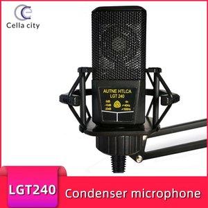 Büyük Diyafram Kondenser Mikrofon Kare LGT240 Bilgisayar Cep Telefonu K Şarkı Mic Canlı Yayın Ekipmanları Mikrofonlar