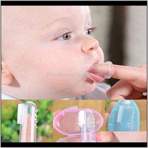 Other Kitchen Dining Bar Home Garden Drop Delivery 2021 Baby Finger Toothbrush Toothbrushbox Children Teeth Clear Soft Sile Infant Tooth Brus