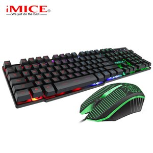 IMICE KM-680 Keyboard Mouse Kit Comfortable Clicking Backlight ABS High-Precision Sensor Keyboard Mouse Kit for Computers