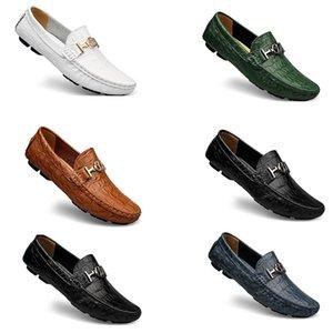 Spring and autumn beanie men&#39s British lazy leather large size business men s Color twenty