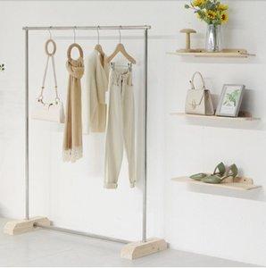Магазин одежды Дисплей стойки коммерческая мебель одежда полка посадка мужчин шоу стойки сумка вешалка простой дизайн обуви висит полюс в женском магазине ткани