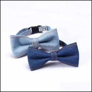 Dog Home & Gardendog Apparel Pet Supplies Collar Denim Bow Tie Cat Necklace Formal Necktie Grooming Bows Puppy Aessories Suit Drop Delivery