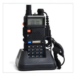 BAOFENG UV-5R UV5R WALKIE TALKIE DUAL BAND 136-174MHZ 400-520MHZ Transceptor de radio de dos vías con auricular sin batería de 1800mAh (BF-UV5R)