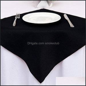 Napkin Textiles Home & Gardensolid Color White Wedding Table Cloth Recycled Textile Napkins Polyester Restaurant Handkerchie Eco-Friendly 48