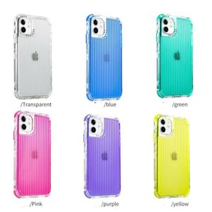 Armor Cases Shockproof Cover PC Frame TPU Colorful Transparent Back 3in1 With Airbags For iphone12 12Mini 12PRO 12PROMAX 11 11pro 11promax X XSMAX SE 8 7 8P