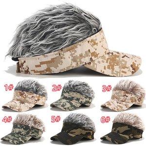 Классические бейсбольные шапки Мужской женский увязчивый летний козырейный парик камуфляж вскользь спортивные кепки высочайшего качества