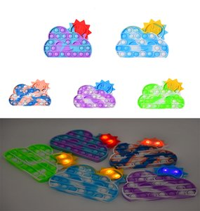 Fidget Toys Sensory Halloween Christmas Rainbow glowing clouds Push Bubble Anti StressGifts And Adults Decompression Toy Surprise Wholesale In Stock