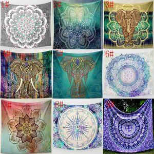 31 Designs Tapestries Bohemian 만다라 코끼리 비치 타월 목도리 요가 매트 테이블 헝겊 폴리 에스터 태피스트리 EWD6096