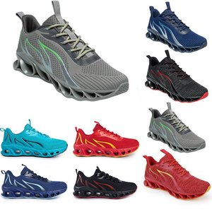 Running Shoes non-brand men fashion trainers white black yellow gold navy blue bred green mens sports sneakers #248