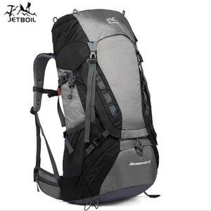 Zaino 2021 Borsa da alpinismo in nylon impermeabile da viaggio all'aperto di grandi dimensioni Escursioni da uomo e donna 65L