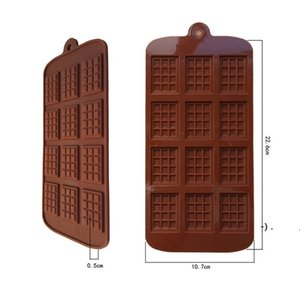 Silicone Mold 12 Even Chocolate Mold Fondant Molds DIY Candy Bar Mould Cake Decoration Tools Kitchen Baking Accessories OWA4828