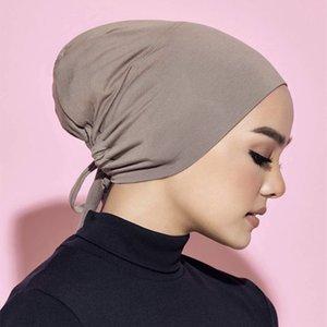Women Full Cover Hair Cap Headwrap Head Scarf Bottoming Turban Headwear 16 colors