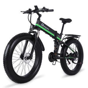 AB MX01 Çanta Shengmilo 26 inç Katlanır Elektrikli 1000 W Dağ Bisikleti 40 KM / H Şehir Yağ Lastik Bisiklet E-Bike
