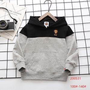 Fall baby boys designer Hoodies fashion kids cartoon pattern long sleeve Sweatshirts children Hooded casual Tops outwear S1204