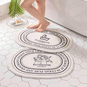 Carpets INS Style Bathroom Carpet Microfiber Bathtub Side Floor Non-Slip Bath Mats Toilet Rugs Doormat For Shower Tapis Salle De Bain