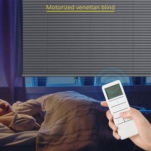 Blinds Smart Matters Motorized Black Venetian Slat Light Filtering Darkening Perfect For Kitchen Bedroom Living Room Office And More