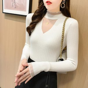 Women Fashion Basic Knitted Turtleneck Sweater Female Solid Turtleneck Collar Pullovers Warm Black